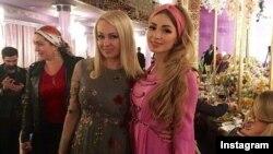 Яна Рудковская и Евгения Феофилактова в гостях у Кадыровых