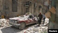 У «повстанській» частині Алеппо після ударів Москви й Дамаска, фото 17 жовтня 2016 року