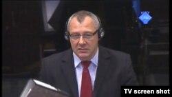 Svjedok Tomasz Blaszczyk u sudnici 11. travnja 2012.