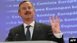 Comisarul european pentru transporturi, Siim Kallas la conferința de presă