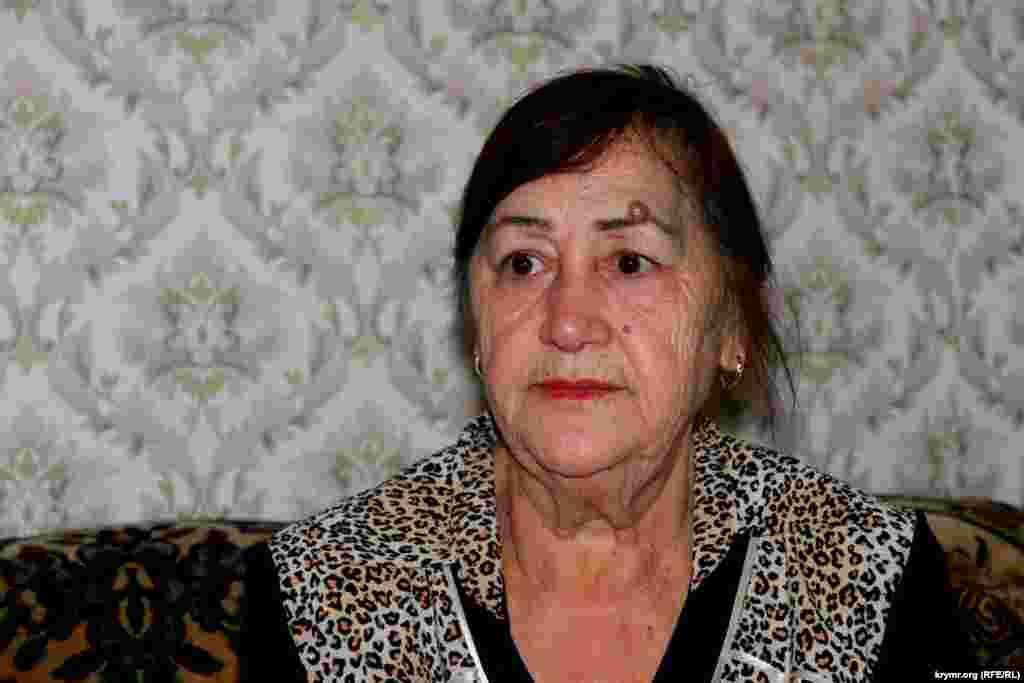 На момент депортации Зумрие Мухтаровой было всего четыре года. В ее семье было 7 детей. Она мало что помнит о пути на чужбину – только страх голод во время 18-дневной дороги. На фото – Зумрие в 2014 году