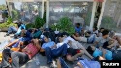 Грекияның Кос аралына келген мигранттар.