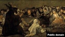 Франсіска Гоя, «Шабаш ведзьмаў» (1823, фрагмэнт)