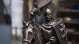"""Исторический герб """"Погоня"""". Фрагмент памятного знака, изготовленного для здания, где была провозглашена независимость БНР"""