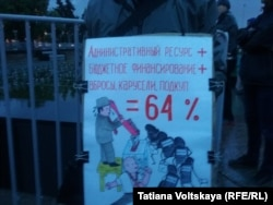 На митинге против фальсификаций на выборах