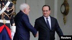 آقای ظریف در پاریس با رییس جمهوری فرانسه دیدار کرد.