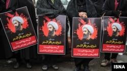 راهپیمایی اعتراضی در ایران در واکنش به اعدام شیخ نمر، روحانی شیعه عربستانی، ادامه دارد.