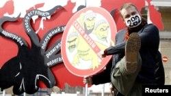 Мәскеудегі орыс ұлтшылдарының шеруі. 2013 жылдың сәуірі.