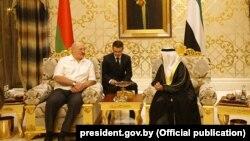 Аляксандар Лукашэнка падчас візыту ў Аб'яднаныя Арабскія Эміраты