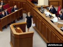 Прем'єр-міністр України Юлія Тимошенко у парламенті. 29 жовтня 2008 року