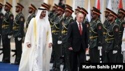 Ruski predsjednik Vladimir Putin u predsjedničkoj palati u glavnom gradu UAE, 15. oktobra 2019.