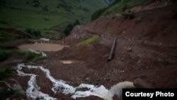 Tailings dump in Syunik, Armenia
