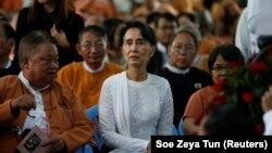 Dobitnica Nobelove nagrade za mir Aung San Su Či, koja je na čelu civilnih vlasti u Mjanmaru