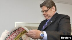 Timo Soini, leader of the populist True Finn Party, which has won a surprising 19 percent of the vote in FInland's general election.