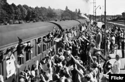 """Жаўнеры СС """"Данмарк"""" пакідаюць Капэнгаген"""