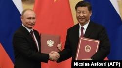Vladimir Putin și Xi Jinping, Beijing, 8 iunie 2018