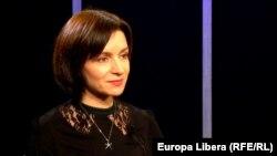 Maia Sandu, lider PAS, în studioul Europei Libere, 8 martie, 2016