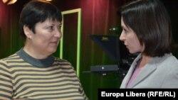 În studioul Europei Libere cu Valentina Ursu