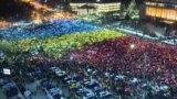 Rumyniýanyň paýtagty Buharestde hökümete garşy protestler dowam edýär.