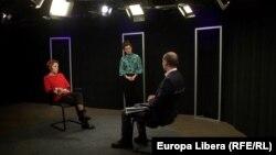 Llila Carasciuc, Natalia Morari, și Serghei Tofilat în studioul Europei Libere la Chișinău