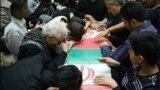 مراسم خاکسپاری یکی از کشته شدگان سپاه در سوریه