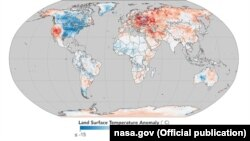 Карта температурных аномалий