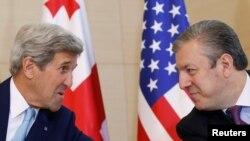 John Kerry və Giorgi Kvirikashvili