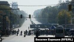 Блокадата на Орлов мост започна преди обяд в четвъртък и продължи до петък сутринта