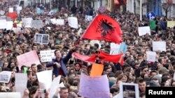 Protesat e studentëve në Tiranë.