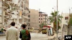 Qyteti Alepo i dëmtuar nga luftimet në Siri