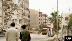 Սիրիացի ապստամբները Հալեպի փողոցներում, արխիվ