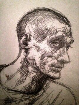 Петр Павленский. Рисунок Лены Хейдиз