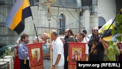В Севастополе 17 июля 2018 года в память расстрела российского царя Николая II и его семьи прошел крестный ход
