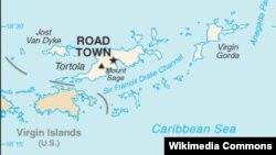 Карта Вирджинских островов