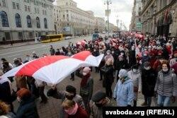 Марш пэнсіянэраў у Менску, пратэсты, 9 лістапада.