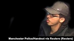 Salman Abedi, the man police say was behind the Manchester bombing, is seen in this image taken from CCTV on the night he committed the attack in this handout photo released to Reuters on May 27.