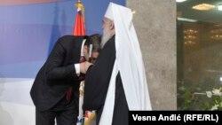 O pitanju nataliteta sa SPC: Predsednik Srbije Aleksandar Vučić sa patrijarhom Irinejom u Beogradu