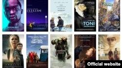Постеры 10 лучших фильмов 2016 года