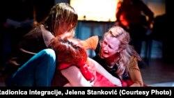 Anita Mančić, Nataša Tapušković i Milica Janevski, foto: Radionica integracije, Jelena Stanković