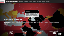 Reporters Without Borders 2015 Press Freedom Index