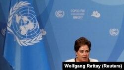 Zyrtarja e Kombeve të Bashkuara për klimë Patricia Espinoza në hapje të konferencës në Bon