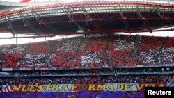 Уболівальники іспанського «Атлетико», який вийшов до півфіналу Ліги Європи