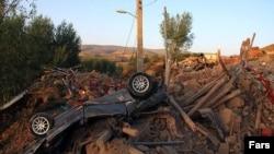 İranın Şərqi Azərbaycan vilayətində zəlzələnin törətdiyi dağıntı, 12 avqust, 2012.