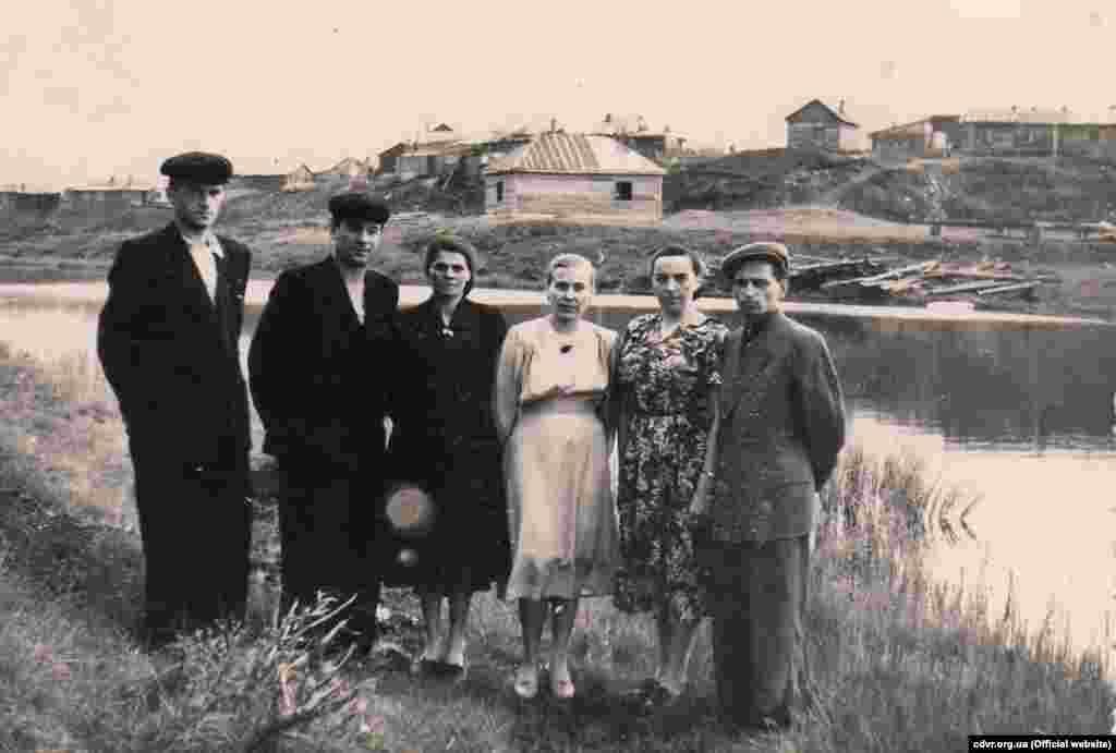 Василина Бугай із чоловіком Іваном Васильовичем (праворуч), 1956 рік (фото з Архіву Центру досліджень визвольного руху)