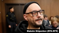 Kirill Serebrennikov attends a court hearing in Moscow on November 1.