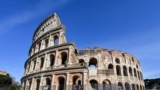 A general view shows a deserted and closed Colosseum monument in Rome on March 10, 2020 as Italy imposed unprecedented national restrictions on its 60 million people on March 10 to control the deadly coronavirus.