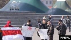 Белорус жаштары К.Бакиевди Кыргызстанга кайтарууну талап кылышууда