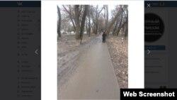 Вода и грязь с тротуара после ремонта на Севастопольской стекала на пешеходную дорожку