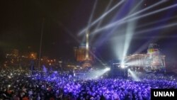 Эўрамайдан у Кіеве, 1 студзеня 2014 году