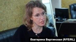 Ксения Собчак, Ресей президенттігіне кандидат, тележүргізуші.